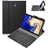 iGenjia Samsung Galaxy Tab S4 10.5 2018 Keyboard Case with Pencil Holder,Slim Leather Case Stand Folio Cover with Detachable Wireless Keyboard for Samsung Galaxy Tab S4 10.5 SM-T830 T835 (Black)