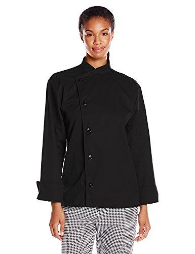 Del Rio Coat (Uncommon Threads Unisex Rio Chef Coat, Black, Small)