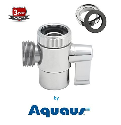 (RinseWorks - Aquaus Brass Faucet Diverter Valve with Male Thread Adapter/NSF/ANSI 61 Low Lead Compliant for Drinking Water System)