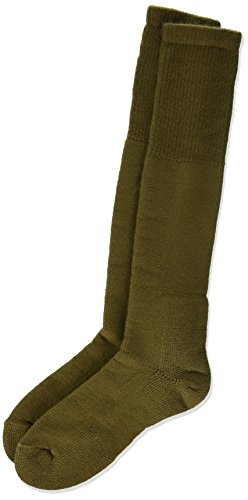 Thorlos Thick Padded Military Over the Calf Sock Brown L