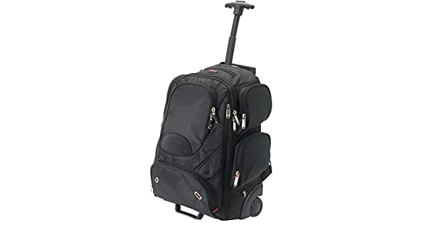 Amazon.com: Elleven Proton Checkpoint Friendly 17in Laptop Wheeled Backpack (13.6 x 7.5 x 19.7 inches) (Solid Black): Pertemba USA
