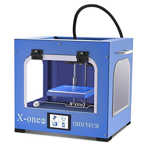 QIDI TECHNOLOGY New Generation 3D Printer:X-one2 (Blue color version),Metal Frame Structure,Platform Heating