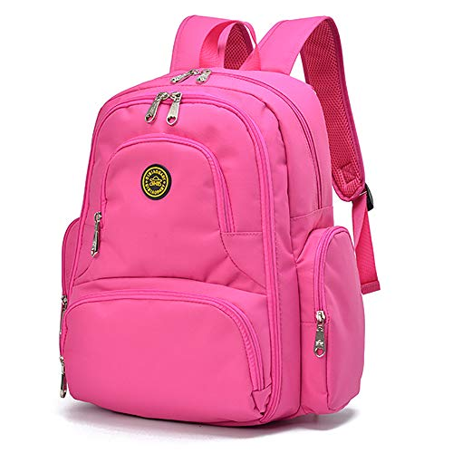 Qimiaobaby Multi-Function Baby Diaper Bag Backpack with Changing Pad and Portable Insulated Pocket (Rose red) ()