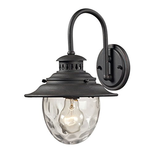 Alumbrada Collection Searsport 1 light Outdoor Sconce In Weathered Charcoal ()