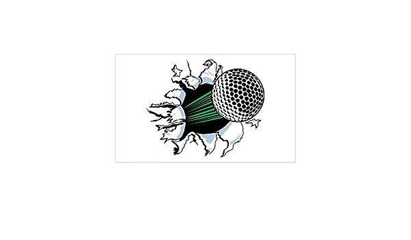 Amazon.com: CafePress Golf Ball Burst Rectangle Sticker Rectangle Bumper Sticker Car Decal: Home & Kitchen