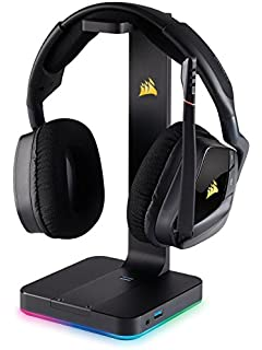 Corsair VOID PRO RGB Wireless - Auriculares Gaming (PC, Inalámbricos, Dolby 7.1), color carbón…