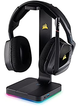 Corsair VOID PRO RGB Wireless - Auriculares Gaming (PC, Inalámbricos, Dolby 7.1)