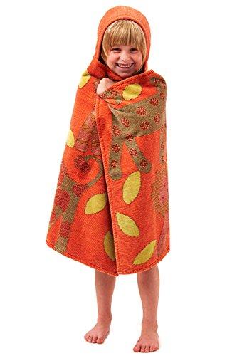 Breganwood Organics Kids Hooded Towel, Jungle - (Tiger Terry Bath Towel)