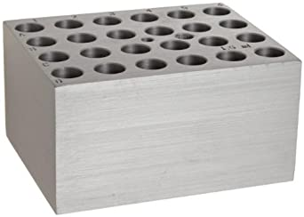 Benchmark Scientific BSW1500 Aluminum Dry Bath Heating Block for Digital Dry Bath Incubator, 24 x 1.5mL Centrifuge Tubes Capacity