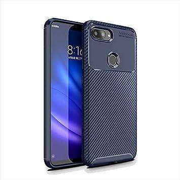 BELLA BEAR Funda para Xiaomi Mi 8 Lite,Silicona Material Blando A Prueba de choques Carcasa de Telefono Cover for Xiaomi Mi 8 Lite(Azul)