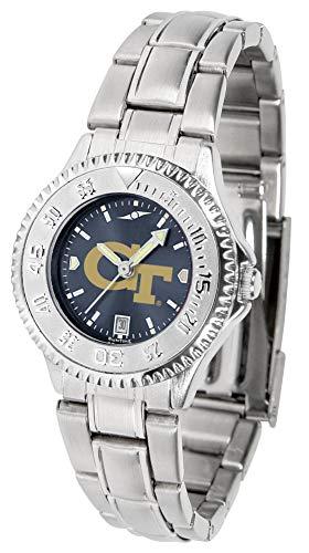 Anochrome Ladies Steel Watch - Linkswalker Georgia Tech Yellow Jackets Ladies' Steel Anochrome Watch