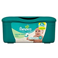 Pampers Baby Wipes Natural Clean (Unscented) 8X Tub, 576 Diaper Wipes