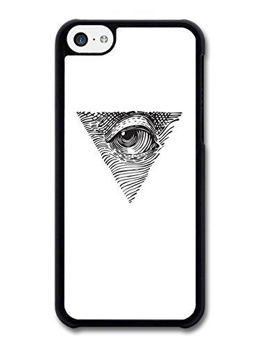 Cool Illuminati Eye Triangle Illustration case for iPhone 5C