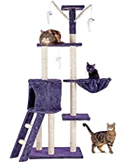 CO-Z Cat Tree Condo Furniture for 2 Cats, Super Stable Cat Tower House, Combined with Cat Bed, Cat Climber, Peek Holes, Scratching Post (Large Cat House)