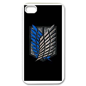 IPhone 4,4S Phone Case for Classic theme ATTACK ON TITAN Logo pattern design GCTAAOTT833963