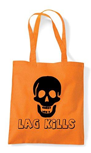 Kills Gaming Orange Statement Skull Shopper Tote Lag Gamer Icon Bag wqzI1xfd