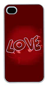 iPhone 4s Case & Cover - 3D Love PC Case For iPhone 4 and iPhone 4S White