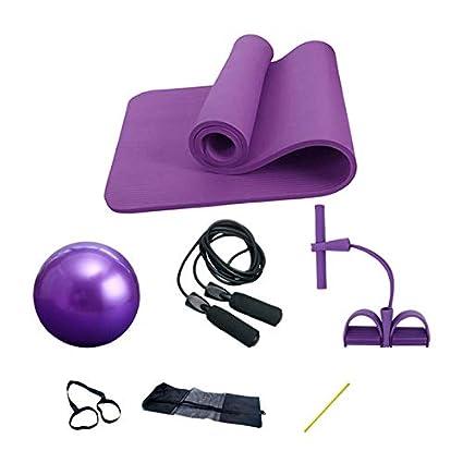 Estera de yoga, juego de 4 piezas, juego de ejercicios de yoga ...