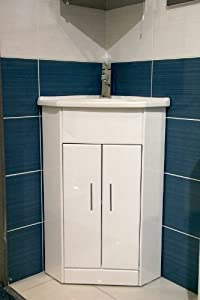 corner bathroom cabinet freestanding unit white compact corner vanity unit bathroom furniture sink 13873