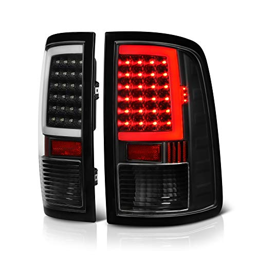 2009 Dodge Neon - VIPMOTOZ OLED Neon Tube Tail Light Lamp For 2009-2018 Dodge RAM 1500 2500 3500 - [Factory Incandescent Model] - Matte Black Housing, Driver & Passenger Side