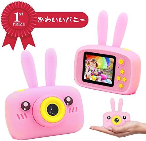 [해외]토이 카메라 JOOKYO 키즈 카메라 1200만 픽셀 2.0 인치 IPS 귀여운 경량 4000 장의 연속 사진 아이 카메라 촬영 디카 일본어 설명서 16GB Micro SD 카드가 포함 된 생일 선물 핑크 / Toy Camera JOOKYO Kids Camera 12 Million Pixels 2.0 Inch IPS ...