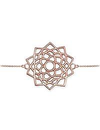 14K White Gold Sahasrara Unity Chakra Open Lotus Yoga Bracelet