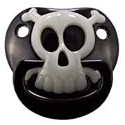 Billy Bob BLACK PIRATE SKULL PACIFIER Baby Pacifier 90049 Original USA Brand by Preciastore