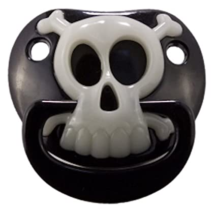 Billy Bob BLACK PIRATE SKULL PACIFIER Baby Pacifier 90049 Original ...