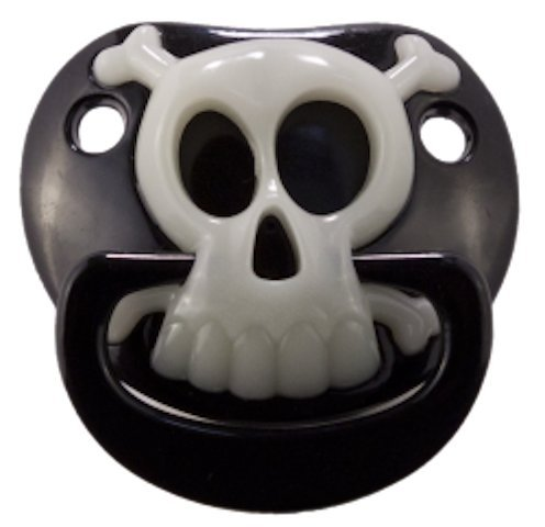 Billy Bob BLACK PIRATE SKULL PACIFIER Baby Pacifier 90049 Original USA Brand by Preciastore