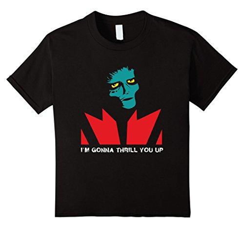 Zombie Dancer Costume Ideas (Kids Im Gonna Thrill You Up Tshirt Halloween Costume Retro 80s 12 Black)