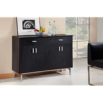 IoHOMES Knox 2 Doors Buffet Black