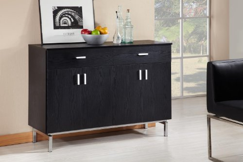 ioHOMES Knox 2-Doors Buffet, Black (Sideboard Black White And)