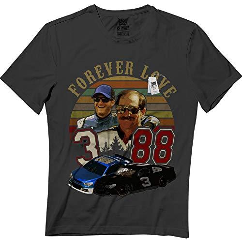 Vintage Dale-Earnhardt Forever 3 & 88 Love Car Racing Racers T-Shirt Black