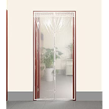 """Transparent Magnetic Thermal Insulated Door Curtain Enjoy Your Cool Summer And Warm Winter With Saving You Money Door Curtain Auto Closer Fits Doors Up To 36"""" x 82""""MAX"""