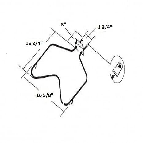 Amazon Com Ps335890 Whirlpool Roper Oven Parts Bake Element