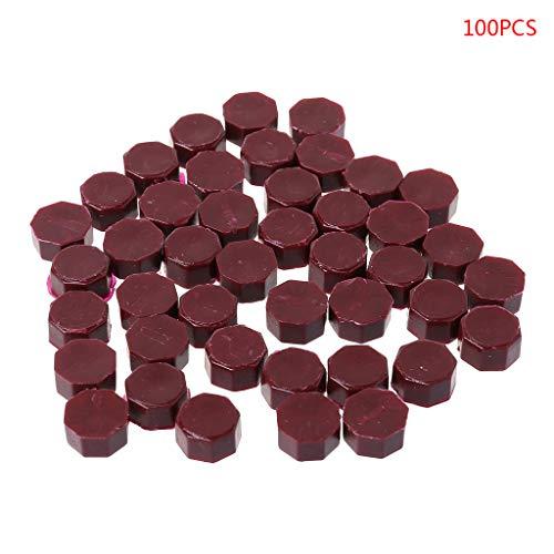 - Junlinto,100Pcs Envelope Seal Seal Wax Retro Octagon Beads DIY Decor Multicolor Stamps Deep Red
