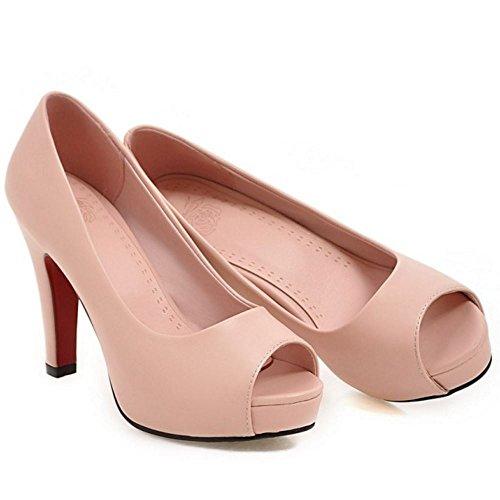 Bout Aiguille Talons Zanpa Mode A Pink Enfiler Escarpins ouvert Femmes Talon zUqU8I