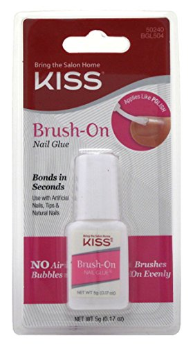 Kiss Lightning Speed Brush On Nail Glue - 2 per case.