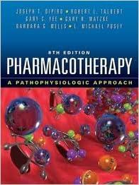 Pharmacompanion: textbook of pharmacotherapy a pathophysiologic.