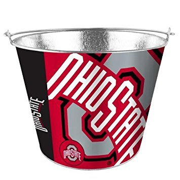 NCAA Ohio State - Color Metal Beer Bucket | OSU Buckeyes 5 Quart Ice Pail - Hype (5 Quart Metal Ice Bucket)