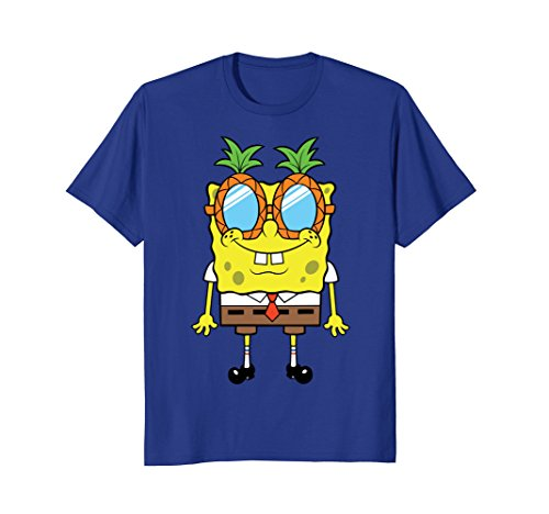 Nickelodeon Spongebob Squarepants Pineapple Glasses T-Shirt (Tshirt For Spongebob Women)