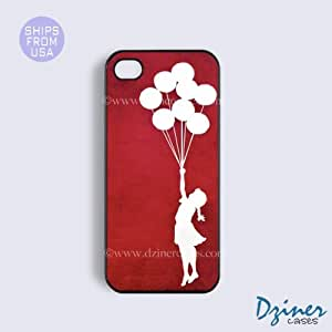 iPhone 5c Tough Case - Red Banksy Girl Balloon iPhone Cover by mcsharks