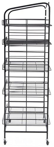 Displays2go Baker's Rack with 5-Adjustable Shelves, 29-Inch by 51-Inch, Steel, Black by Displays2go (Image #2)