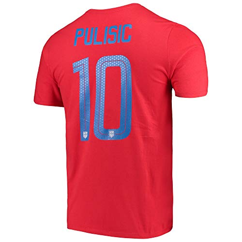 Nike Pulisic #10 T-Shirt US Soccer Youth (Youth-M) Red ()