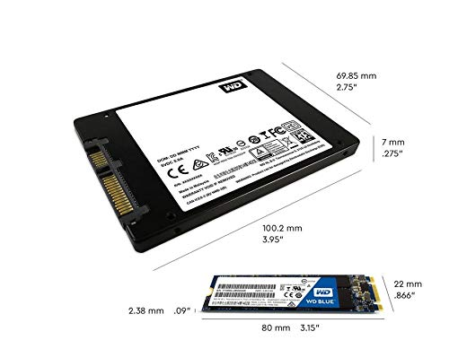 """WD Blue 1TB 2.5"""" Internal SSD + 18"""" SATA III Cable 5 Form factor 2.5 Inch"""