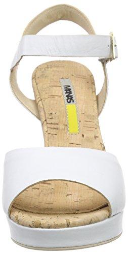 MANAS Sandalias de plataforma Blanco - Weiß (BIANCO)