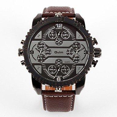 XKC-klockor herrklockor, Oulm herr par modeklocka armbandsur för vardagen japansk kvarts armbandsur för vardagen läder band lyx moderiktig svart brun svart