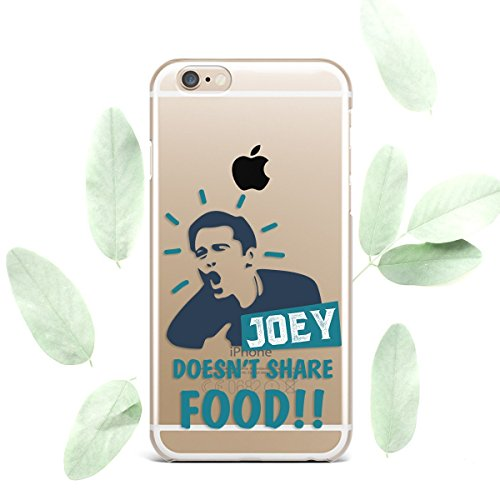 Friends TV Show Joey Doesn't Share Food Convenient Cell Phone Cover Case for Apple iPhone Art Design Silicone Durable Protective Clear Skin Cover Case Joey, for iPhone 7 Plus/8 Plus