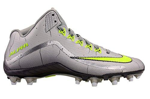 Nike Herren Alpha Pro 2 Fußballschuh Metallisches Silber / Dunkelgrau / Volt
