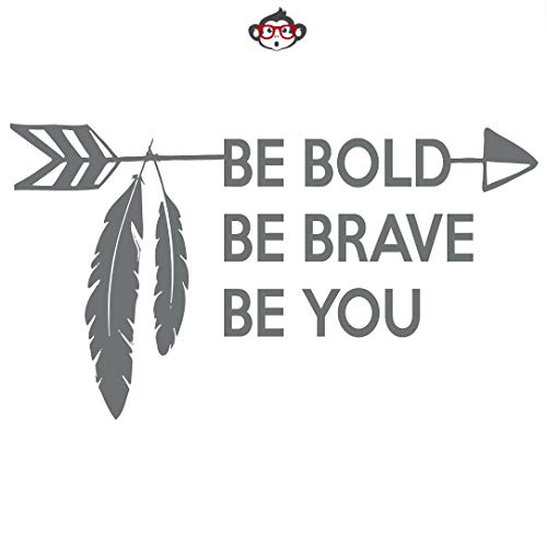 Pene Be Bold Be Brave Decal Be Bold Be Brave Wall Decals Laptops Coolers Yeti Tumblers Ramblers Motivation Quotes Wall Stickers -